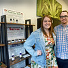 BRYAN EATON/Staff Photo. The Healing Rose Company co-founders, Laura Beohner, left, president and Zach McInnis, vice-president.