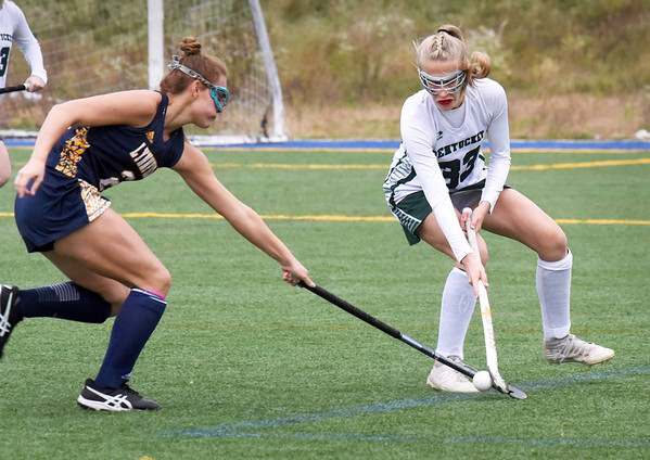 BRYAN EATON/Staff Photo. Pentucket's Ally Ward in action with Lynnfield.