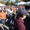 BRYAN EATON/Staff photo. A gorgeous fall day brought out hundreds of people to the Amesbury Fire Department's Chili Cookout. There was music, been and fun for children as well with a bouncy house and dunk tank.