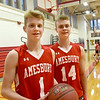 BRYAN EATON/Staff Photo. Amesbury basketball standouts, brothers Camden Keliher, left, and Jayden.