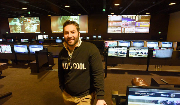 BRYAN EATON/Staff Photo. Mike Cataldo of the marketing department at The Brook on a tour of the gaming facility that started as Yankee Greyhound Park in Seabrook in the mid-70's.