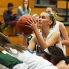BRYAN EATON/Staff photo. Triton's Paige Volpone goes for the second foul shot against North Reading.