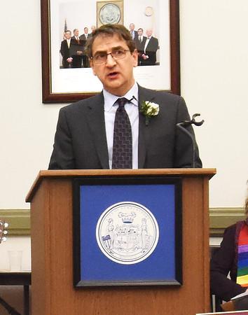 BRYAN EATON/Staff photo. Newburyport city council President Jared Eigerman.