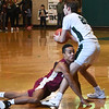 BRYAN EATON/Staff Photo. Trevor Ward collides with Pentucket's Sam Stys as he looks for an open teammate.