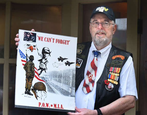 BRYAN EATON/Staff photo. Dudley Farquhar is a Vietnam veteran who has been really active with advocating for POW/MIA vets in the past few decades.
