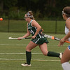 CARL RUSSO/staff photo. NEWBURYPORT NEWS: Pentucket player, # 34 chases the long pass in field hockey action against Methuen. NO # 34 ON THE ROSTER.  9/10/2018
