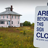 "BRYAN EATON/Staff photo. The ""pink house"" on the Plum Island Turnpike may be saved in a land swap with the Parker RIver National Wildlife Refuge."