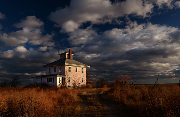"BRYAN EATON/File photo. The ""pink house"" on the Plum Island Turnpike may be saved in a land swap with the Parker RIver National Wildlife Refuge."