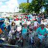 JIM VAIKNORAS/Staff photo The crowd at the 92.5 Riverfront Festival fill the boardwalk in Newburyport Saturday.