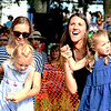 "JIM VAIKNORAS/Staff photo Jess Runnals, with her daughter Nora, 4, and Annelle Stuppy with her daughter Evie, 4, dance to the music of Philip Phillips the 92.5 Riverfront Festival in Market Landing Park in Newburyport Saturday. Evie was born to Phillips song ""Home""."