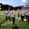 JIM VAIKNORAS/staff photo The Newburyport High School band plays the National Anthem before Friday nights game between the Clippers of Newburyport and the Masconomet Chieftains at World War Memorial Stadium in Newburyport.