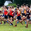 JIM VAIKNORAS/Staff photo Boy take off at the start on the Clipper Relay at Maudslay State Park Saturday.