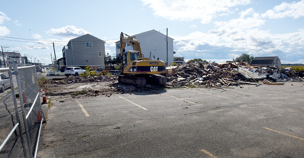 BRYAN EATON/Staff Photo. The former Mr. K's bar at Salisbury Beach is now rubble and the site will be home to six single-family houses.