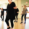 BRYAN EATON/Staff Photo. Jenn Grinning starts off the class in tap dancing at the Newburyport Senior Center. She and Nicole Marquis Chabot are taking over for Jackie Casey of several years of teaching there.