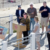 BRYAN EATON/Staff photo. Nancy Sweeney sings the National Anthem, The Star Spangle Banner at the opening ceremonies of Salisbury Days on the boardwalk at the beach.