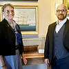 JIM SULLIVAN/Staff photo. Custom House Maritime Museum's new executive director Joan Whitlow, left, and assistant executive director Sean Palmatier.