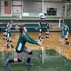 BRYAN EATON/Staff photo. The newly formed Pentucket High volleyball team in practice.