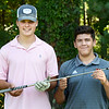 BRYAN EATON/Staff Photo. Newburyport High School golf team captains Sam Lyman, left, and Luke Grossi-Hogg.