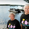 BRYAN EATON/Staff Photo. Sisters Betty Goodwin, left, and Ernestine Goodwin, were Lake Attitash Grand Illumination Grand Marshalls in 2009 The two, are wearing t-shirts from the 1994 event,