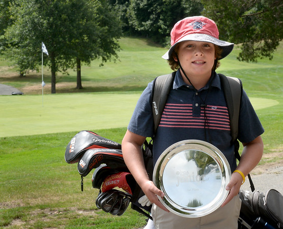 BRYAN EATON/Staff Photo. Jack Carew is a 12-year-old from Newbury who recently won the New England PGA Junior tour championship.