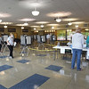 BRYAN EATON/Staff Photo. There weren't the usual lines of voters at Amesbury's polling place as 4,000 ballots were cast early or by mail.