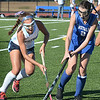BRYAN EATON/Staff photo. Triton's Sofia DeSimone and Georgetown's /aly Lerner battle for the ball.