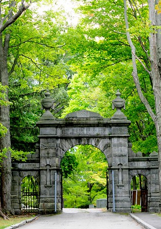 JIM VAIKNORAS/Staff photo Entrance to the Oak Hill Cemetary in Newburyport.