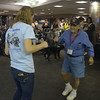 JIM VAIKNORAS/Staff photo George Papino dances with Katie Patrick at BWI airport in Baltimore.