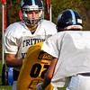 BRYAN EATON/Staff photo. A Triton defensive player ready for action.