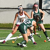 BRYAN EATON/Staff photo. Pentucket's Sabrina Paolino shoots past Newburyport's Vicky Justiniano.