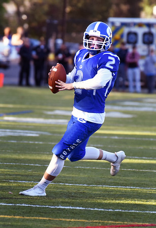 BRYAN EATON/Staff photo. Georgetown quarterback Tommy Long readies to pass to Hunter Lane for a touchdown.