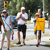BRYAN EATON/Staff photo. Ever Walk participants on Beach Road in Salisbury as they head to Hampton Beach.