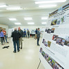 JIM VAIKNORAS/Staff photo People gather at an Open House at the Marshview Field Station on the Newburyport Turnpike in Newbury Tuesday night.