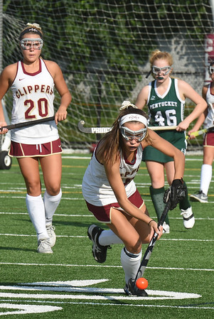 BRYAN EATON/Staff photo. Newburyport's Callie Beauparlant moves the ball downfield.