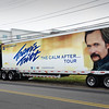 BRYAN EATON/Staff photo. Travis Tritt's tractor-trailer is parked outside the Hampton Inn. He's performing at this weekend's Amesbury Harvest Fair and Country Music Festival.