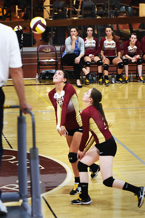 BRYAN EATON/Staff photo. Newburyport's Megan Foley and Tess Eagan.