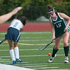 JIM VAIKNORAS/Staff photo  Pentucket's Jacqui Cloutier blocks a pass by Triton's Sarah Lourd during their game at Triton in Byfield Thursday.