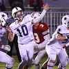 BRYAN EATON/Staff photo. Hamilton-Wenham quarterback Billey Whelan gets off a pass.