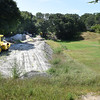 BRYAN EATON/Staff photo. Work continues on the rail trail adjacent to March's Hill in Newburyport.