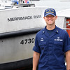 BRYAN EATON/Staff photo. Patrick Brown is the new USCG Station Merrimack officer in chief.
