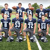 BRYAN EATON/Staff photo. Triton High football team seniors, front, from left, Jared Durkin, Dylan Leavitt, Travis Madden, Steven Particelli, Brandon Eppa, Marc Wood and Christian O'Brien. Back, from left, Gunnar Gustafson, Tommy Lapham, Cody Crocker, Alex Fecteau, Sean Greaney, Ryan Farrell, Sean Landry and John D'Arcy.