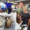 BRYAN EATON/Staff photo. Rob and Shauna Werner of Leeward Light Thrift Store in Salisbury.