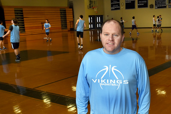 BRYAN EATON/Staff photo. Triton boys basketball head coach Ted Schruender.