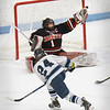 BRYAN EATON/Staff photo. North Andover goalie Jack Walsh reacts to a shot by Triton's Ben Rennick which went wide.