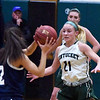 BRYAN EATON/Staff photo. Pentucket's Madeline Doyle covers Wilmington's Jenna Travanese as she looks for an open teammate.