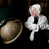 JIM VAIKNORAS/Staff photo  Maureen Daley as Suzannah Graves pose in costume at the Custom House in Newburyport.