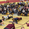 "BRYAN EATON/Staff photo. A huge crowd was in attendance for the ""planking"" to support the Newburyport Education Foundation."