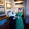 "JIM VAIKNORAS/Staff photo  Maureen Daley as Suzannah Graves and  Allegra Larson as Carolyn Graves pose in costume at the Custom House in Newburyport. They will be giving a performance of ""Captains Wives and Daughters""  to members in March."