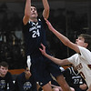 JIM VAIKNORAS/Staff photo  Swampscott's Max Pegnato with a jump shot at Newburyport High School Monday night.