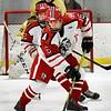 BRYAN EATON/Staff photo. Dylan LaLiberte maneuvers the puck on Haverhill ice.
